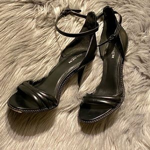 Coach Shoes - Coach Iliana Leather Sandals in Black